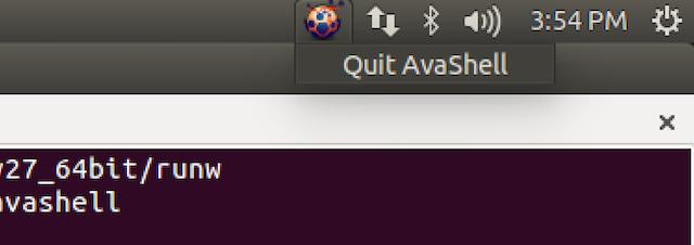 Avashell screenshot